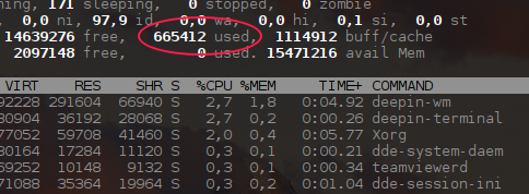 RE: Сколько озу потребляет deepin 15.4 при старте